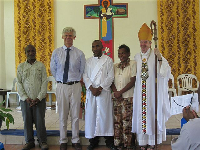 Gilford, his parents, Ian and Bishop Peter