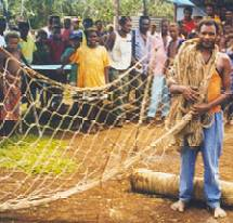 Net for catching Cassowary and pigs